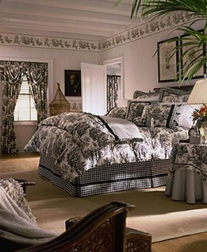 Country Life Toile Black Dana Bedspreads